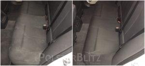 Vorher-Nachher Bild Polsterreinigung Autositze