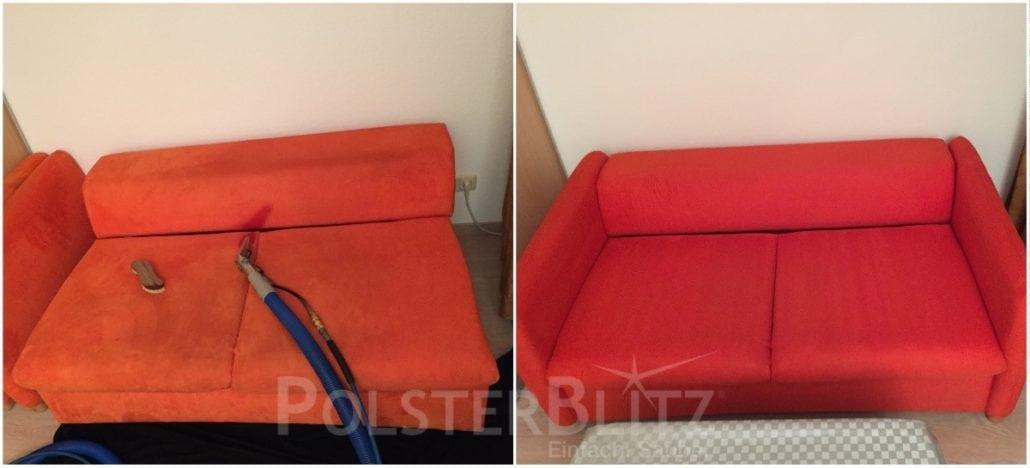 couch mit starken flecken in einer wohngemeinschaft gereinigt polsterreinigung schnell. Black Bedroom Furniture Sets. Home Design Ideas