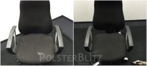 Vorher-Nachher Bild Polsterreinigung Bürostuhl