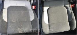 Vorher-Nachher Bild Polsterreinigung Auto Sitz