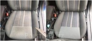 Vorher-Nachher Bild Polsterreinigung Autositz gereinigt