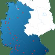 Karte Gebiete Polsterreinigung