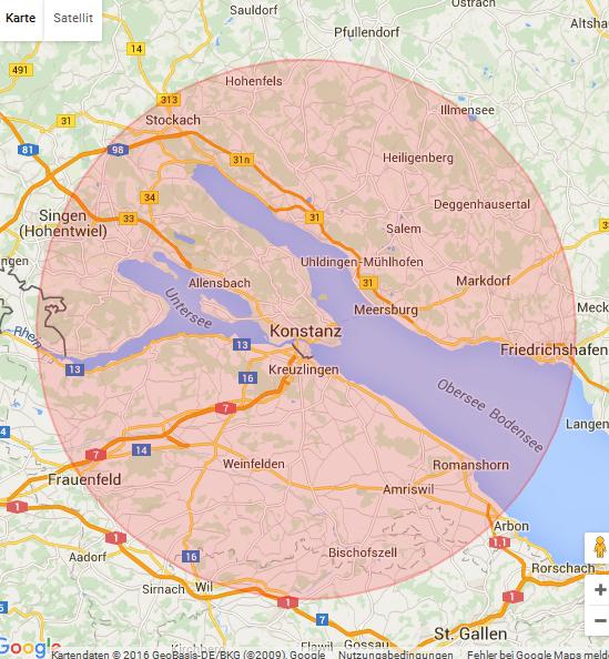 Karte Konstanz