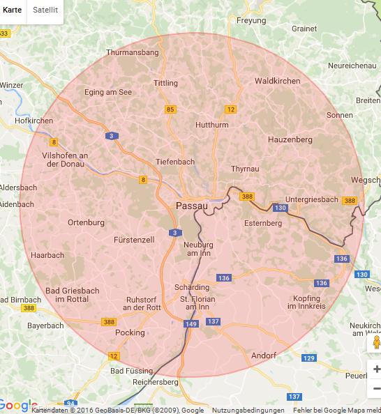 Karte Passau