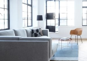 Sofa in Wohnung