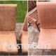 Terracotta Stühle für das Esszimmer gereinigt