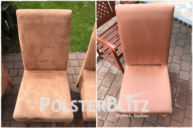 Terracotta Stühle für das Esszimmer gereinigt | Polsterreinigung ...