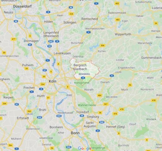Karte Bergisch Gladbach