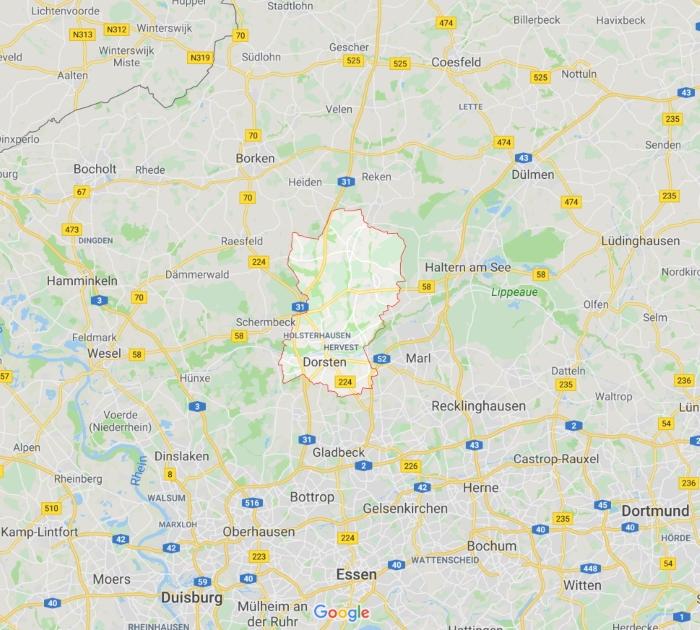 Karte Dorsten