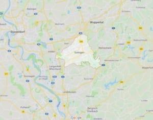 Karte Solingen Polsterreinigung Polsterblitz