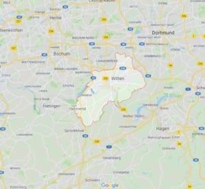 Karte Witten
