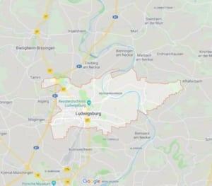 Karte Polstereinigung Ludwigsburg
