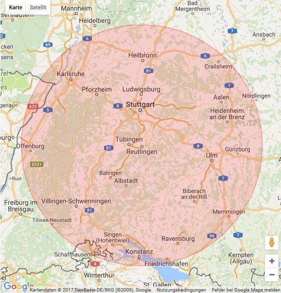Karte Tübingen
