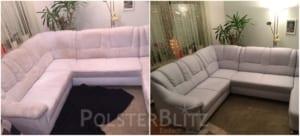 Vorher-Nachher Bild Eck Couch gereinigt