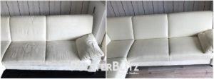 Vorher-Nachher Reinigungsbeispiel Couch