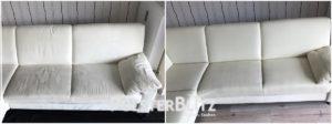 Reinigungsbeispiel Couch hell
