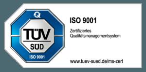 TÜV Siegel ISO 9001 Qualitätsmanagementsystem